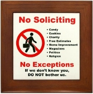 Buy a No Soliciting Sign That Really Works!